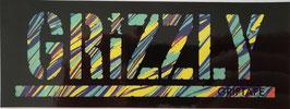 Grizzly Griptape - Schriftzug - türkis/bunt