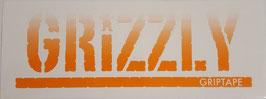 Grizzly Griptape - Schriftzug - Orange/Weiß