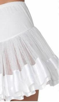 Petticoat 35 cm (weiss und schwarz)