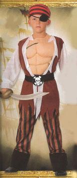 Kostüm Pirat mit Muskelbrust