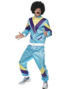 80er - Jahre Jogginganzug blau