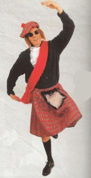 Kostüm Schottenrock mit Tasche