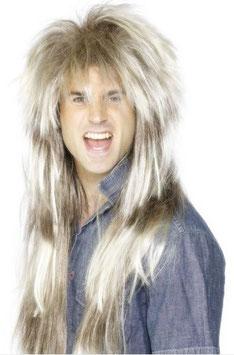 Perücke 80er Rockstar blond