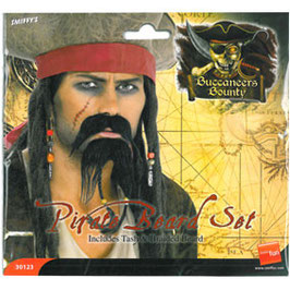 Bart mit Schnauz Pirat