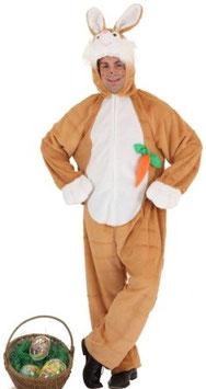 Kostüm Hase Plüsch braun
