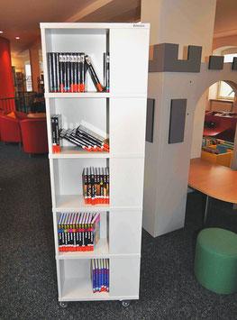 Bücherturm - Gefache übereinander angeordnet