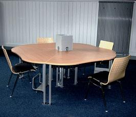 Tisch  -  Viertelkreis / Halbrund
