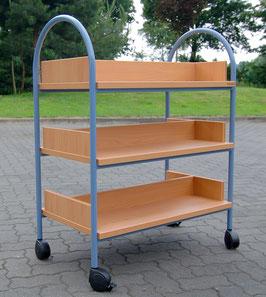 Buchwagen - Metall / Holz