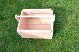 Holzkiste für DIY- Wikingerspiel, DIY-Kubb, aus Douglasienholz.