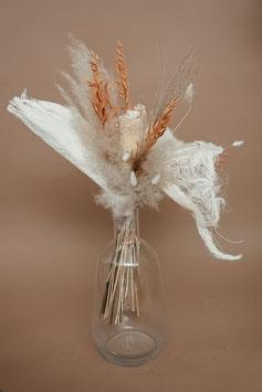 Trockenblumen groß gebleicht/altrosa