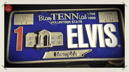 Elvis - License Plate Belt Buckle