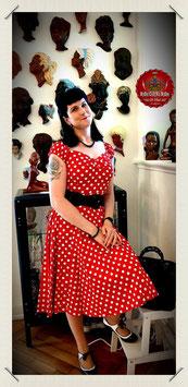 Dolores Polka-Dot Dress rot