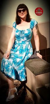 Mainline Giselle Palm Print Swing Dress