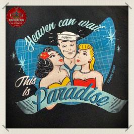 """Unisex Sweat Jacke s/w """"Paradise"""""""