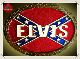 Elvis - Confederate Flag Belt Buckle