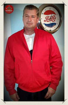 Mens - Dean Harrington Jacket in red