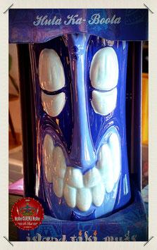 Hula Ka-Boola Tiki Mug blue