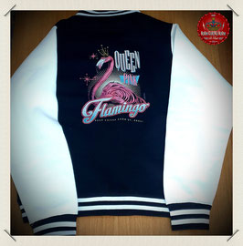 "Damen Sweat Jacke s/w ""Pink Flamingo"""