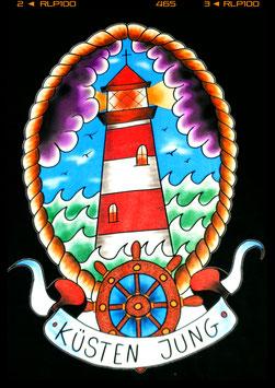 """T Shirt """"Leuchtturm Küsten Jung"""""""