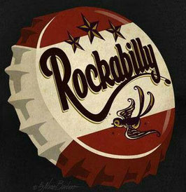 "T Shirt ""Rockabilly Kronkorken"""