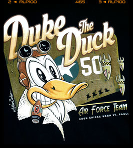 "T Shirt ""Duke the Duck "" Design Nano Barbero"