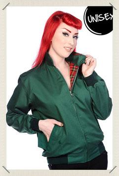 Harrington Jacket Unisex - green - Größe S