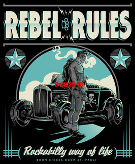 "T Shirt ""Rebel Rules"""