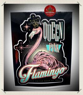 "Aufkleber ""Pink Flamingo"""