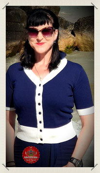 Mainline Ludovica Contrast Cardigan Navy