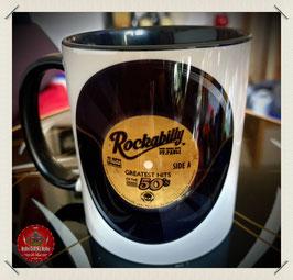"Keramik Becher ""Rockabilly Vinyl"""