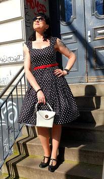 Jill Vintage Polka Dot 50s Swing Dress