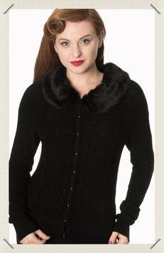 Lets Party Faux Fur Knit Cardigan