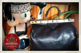 Vintage Leder Arztkoffer, schwarz