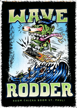 "T Shirt ""Wave Rodder"" Design Nano Barbero"