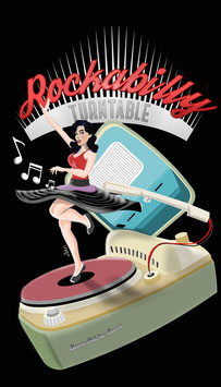 "T Shirt ""Rockabilly Turntable"""