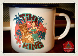 """Tiki King"" Emaille Becher"