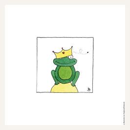 Poster 30x30 cm   Froschkönig