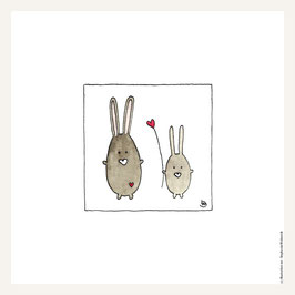 Poster 30x30 cm    Hasenliebe