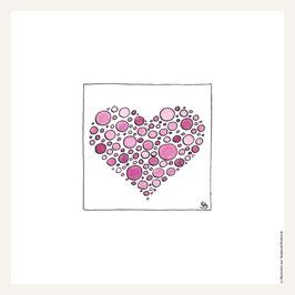 Poster 30x30 cm   Herzenskunst Herz