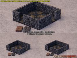 Modularer Dungeon: Paket 3 Kleine Räume