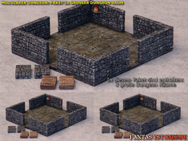 Modularer Dungeon: Paket 3 Große Räume