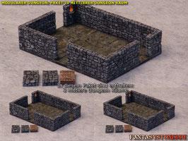 Modularer Dungeon: Paket 3 Mittlere Räume