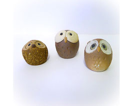Japanse aardewerk uilen