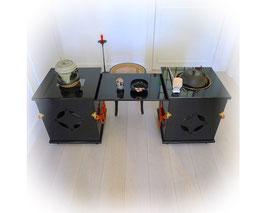 Japanse lakwerk tafel voor de  theeceremonie