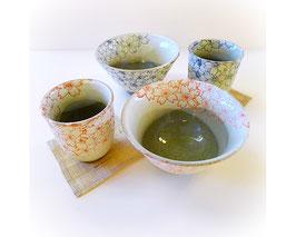 Japans aardewerken kommen set
