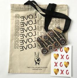 Doosje 8 Chefpops met kaart en TAS Love Revolution