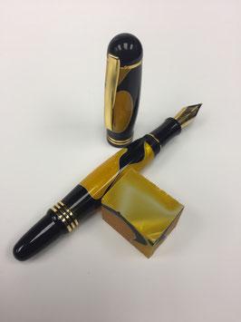 Vulpen - Churchill Orange-Black - 24K Gold Plated