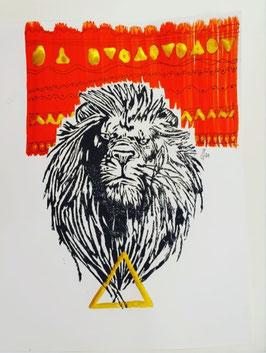 Löwe im goldenen Feuerzeichen