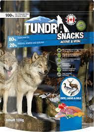 Tundra Dog Snacks / Duck and  Salmon / Ente und Lachs / Game Active and Vital / für Vitalität