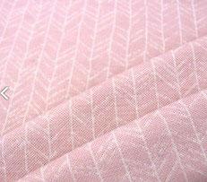 Meterware 100% Wollinterlock | light rosa mit Muster| mulesingfrei | OHNE superwash
